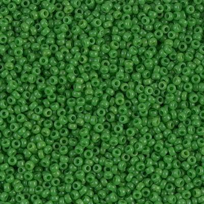 Miyuki 15/0 411 - Jade Green Opaque - 10g