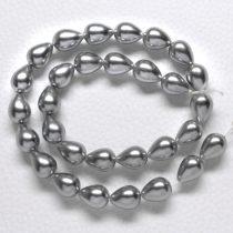 Kagylógyöngy (shell pearl), szürke - 13x10mm-es csepp - 1db