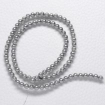 Kagylógyöngy (shell pearl), szürke - 4mm-es golyó - 1db