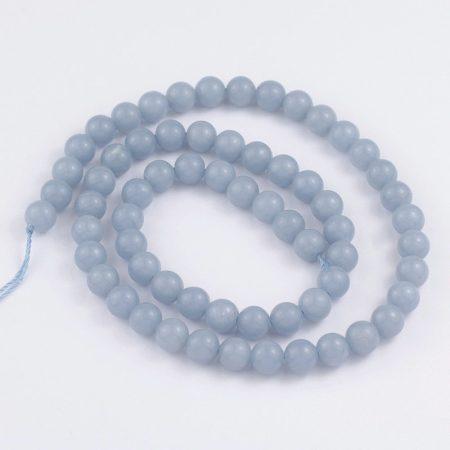 Angelit ásványgyöngy - 5,5-6mm-es golyó - 1db