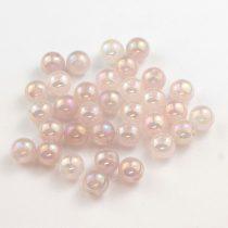 Aura rózsakvarc ásványgyöngy - 6mm-es golyó - 1db