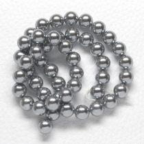 Kagylógyöngy (shell pearl), szürke - 6mm-es golyó - 1db