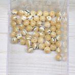 Kagylóhéj (drapp, csíkos) gyöngy - 6mm-es golyó - 1db