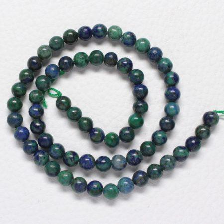 Lápisz lazuli (krizokolla színűre festett) ásványgyöngy - 6mm-es golyó - 1db