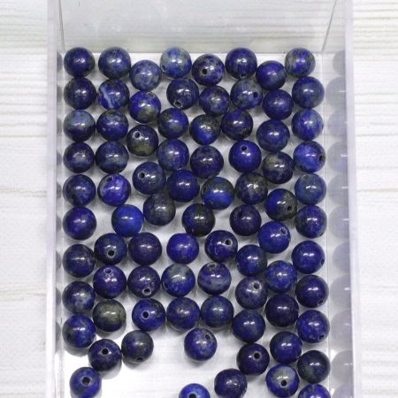 Lápisz lazuli ásványgyöngy - 6mm-es golyó - 1db