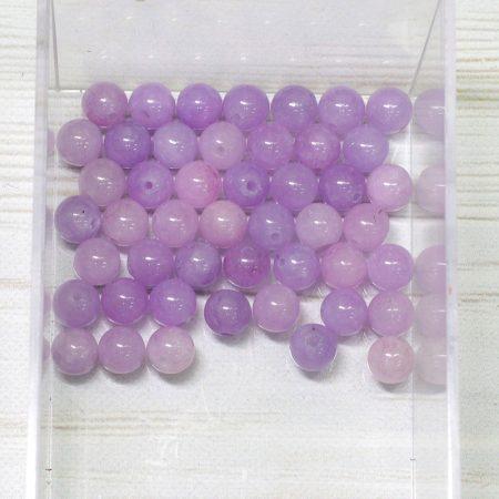 """""""Jáde"""" (festett viola) ásványgyöngy - 6,5mm-es golyó - 1db"""