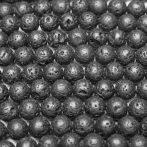 Lávakő (bazalt) ásványgyöngy - 6,5mm-es golyó - 1db