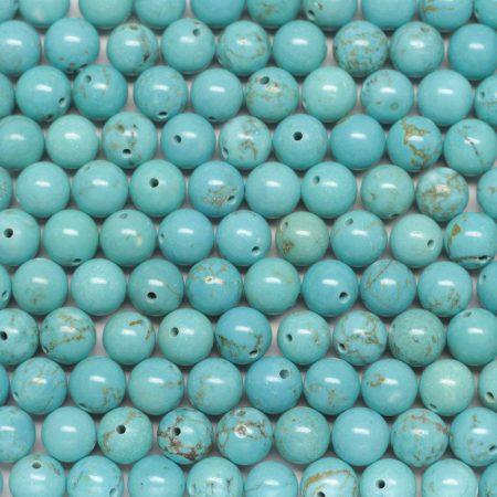 Türkenit (festett magnezit) ásványgyöngy - 6,5mm-es golyó - 1db