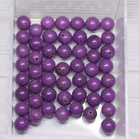 Foszfosziderit A ásványgyöngy - 7,5mm-es golyó - 1db