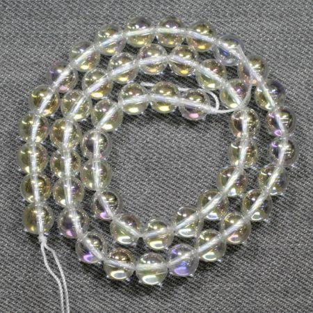 Aura kvarc ásványgyöngy - 8mm-es golyó - 1db