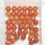"""""""Jáde"""" (festett narancs) ásványgyöngy - 8mm-es golyó - 1db"""