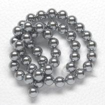 Kagylógyöngy (shell pearl), szürke - 8mm-es golyó - 1db