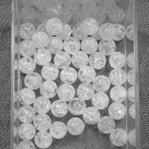 Hegyikristály (hevítéssel roppantott) ásványgyöngy - 8mm-es golyó - 1db