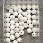 Howlit, MATT csiszolású ásványgyöngy - 8mm-es golyó - 1db