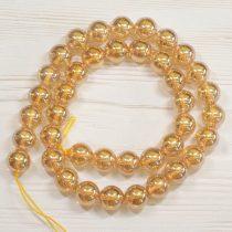 Aura kvarc (arany) ásványgyöngy - 10mm-es golyó - 1db