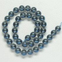 Aura kvarc (kék) ásványgyöngy - 10mm-es golyó - 1db