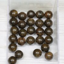 Bronzit ásványgyöngy - 10mm-es golyó - 1db