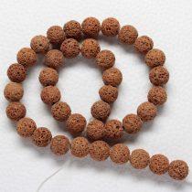 Habkorall (festett barna) gyöngy - 10mm-es golyó - 1db