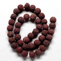 Habkorall (festett burgundi) gyöngy - 10mm-es golyó - 1db