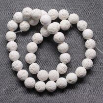 Habkorall (fehér) gyöngy - 10mm-es golyó - 1db