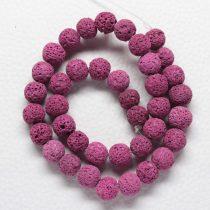 Habkorall (festett mályva) gyöngy - 10mm-es golyó - 1db