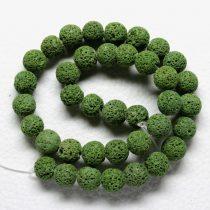 Habkorall (festett olívazöld) gyöngy - 10mm-es golyó - 1db