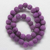 Habkorall (festett püspöklila) gyöngy - 10mm-es golyó - 1db