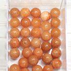 """""""Jáde"""" (festett narancs) ásványgyöngy - 10mm-es golyó - 1db"""