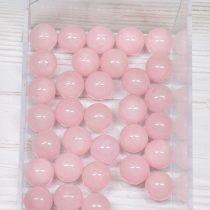 """""""Jáde"""" (festett rózsaszín) ásványgyöngy - 10mm-es golyó - 1db"""