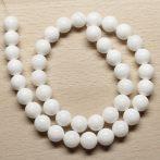 Kagylóhéj (fehér) gyöngy - 10mm-es golyó - 1db