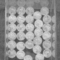 Hegyikristály (hevítéssel roppantott) ásványgyöngy - 10mm-es golyó - 1db