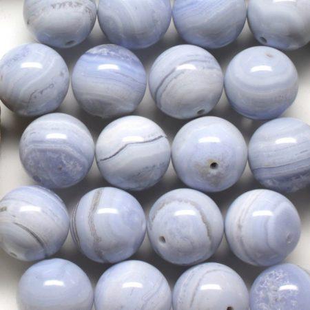 Kalcedon ásványgyöngy - 18mm-es golyó - 1db