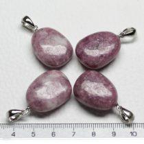 Lepidolit ásványmedál - 2-3cm-es formátlan csepp