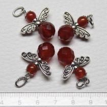 Karneol ásványmedál - 2cm-es angyal / tündér