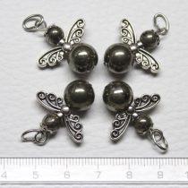 Pirit ásványmedál - 2cm-es angyal / tündér