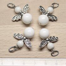 Kagylóhéj medál - 2cm-es angyal / tündér