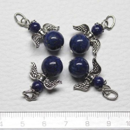 Lápisz lazuli ásványmedál - 2cm-es angyal