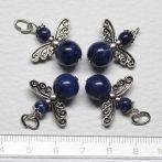 Lápisz lazuli ásványmedál - 2cm-es angyal / tündér