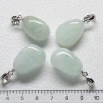 Akvamarin ásványmedál - 2-2,5cm-es formátlan csepp