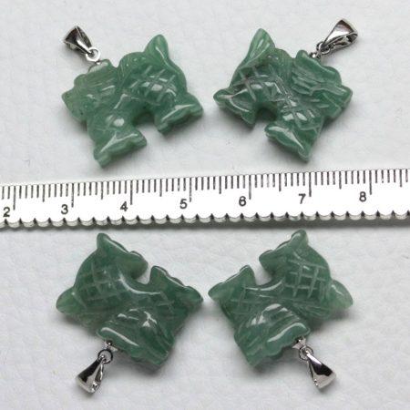 Aventurin ásványmedál - 1,5x2cm-es sárkány