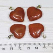 Karneol ásványmedál - 2cm-es szív