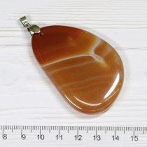 Achát ásványmedál - 5,9x3,9cm-es
