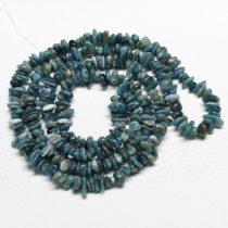 Apatit - ásvány splitter / szemcse - gömbölyített szemű - kb. 85cm-es szál