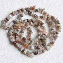 Botswana achát ásvány splitter - gömbölyített szemű - kb. 85cm-es szál
