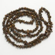 Bronzit ásvány splitter / szemcse - gömbölyített szemű - kb. 85cm-es szál