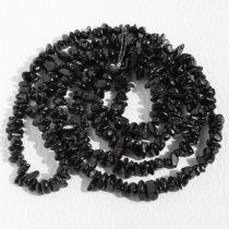 Fekete turmalin (sörl) féldrágakő splitter - kb. 85cm-es szál