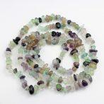 Fluorit ásvány splitter / szemcse - gömbölyített szemű - kb. 85cm-es szál