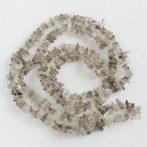 Füstkvarc (világos) ásvány splitter / szemcse - gömbölyített szemű - kb. 85cm-es szál