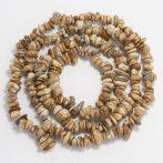 Képjáspis ásvány splitter / szemcse - gömbölyített szemű - kb. 85cm-es szál