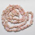 Rózsaopál ásvány splitter / szemcse - gömbölyített szemű - kb. 85cm-es szál